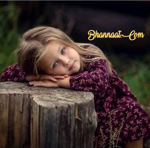 Cute sad image baby girl